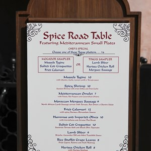 13 of 24: Spice Road Table - Spice Road Table menu