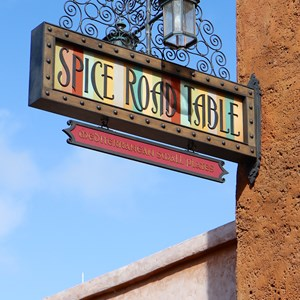 6 of 24: Spice Road Table - Spice Road Table sign