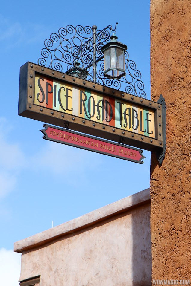 Spice Road Table - Spice Road Table sign