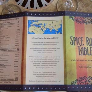 10 of 26: Spice Road Table - Spice Road Table menu