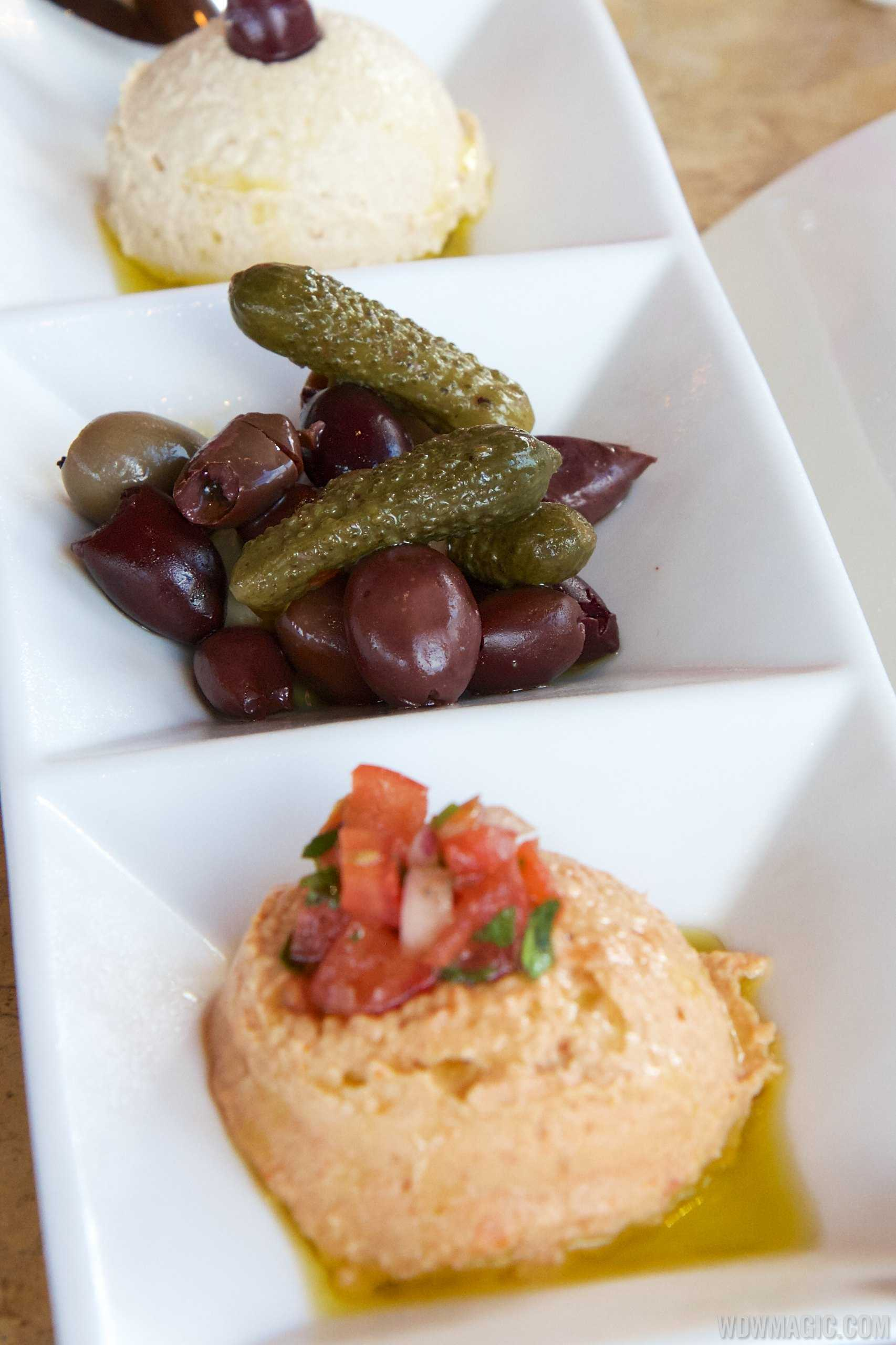Spice Road Table - Imported Olives and Hummus $10