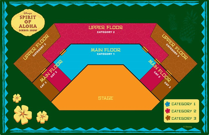 Spirit of Aloha seating plan