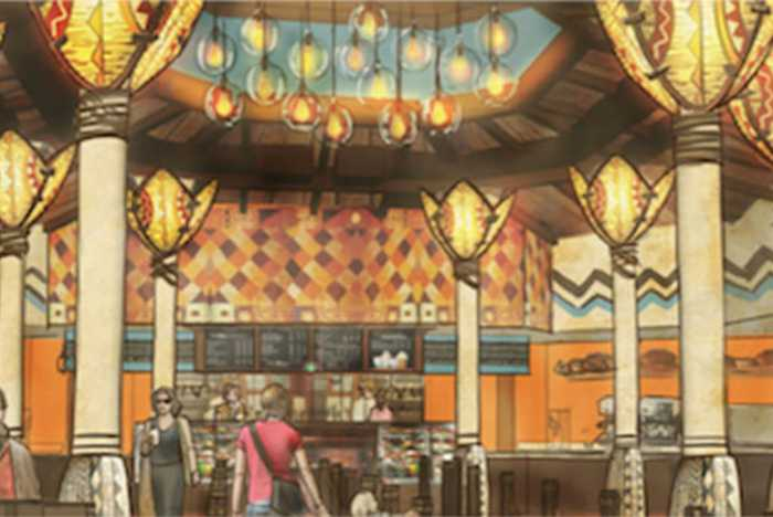 Starbucks Disney's Animal Kingdom interior concept art