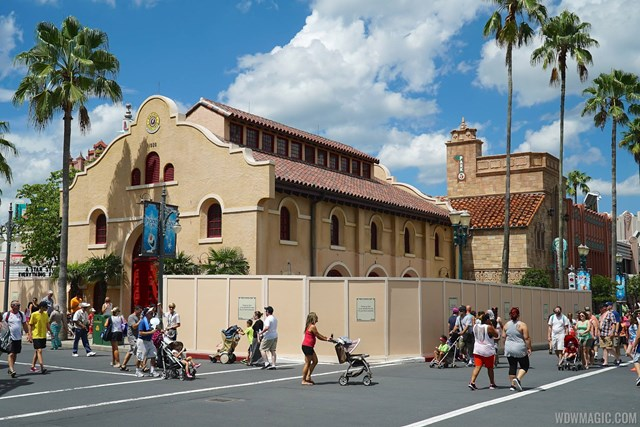 Starbucks construction at Disney's Hollywood Studios