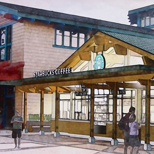 1 of 3: Starbucks Marketplace - Starbucks Marketplace concept art
