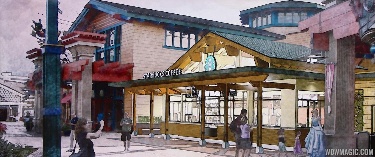 Starbucks Downtown Disney Marketplace concept art