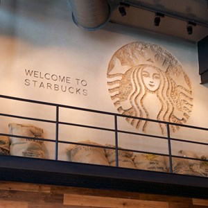 9 of 15: Starbucks West Side - Starbucks West Side interior decor