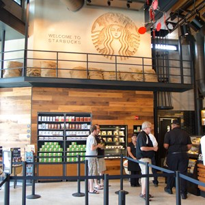 7 of 15: Starbucks West Side - Starbucks West Side interior