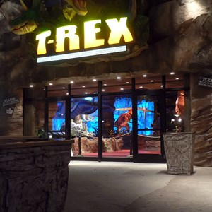 1 of 2: T-Rex - T-Rex opening date signage