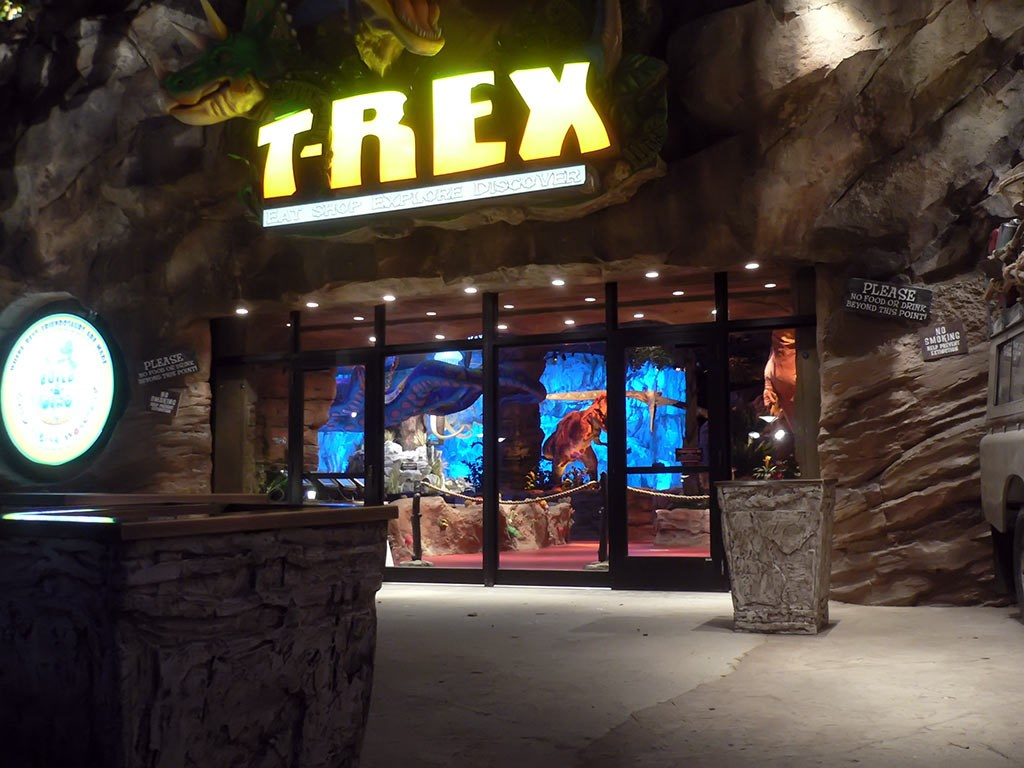 T-Rex opening date signage