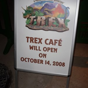 2 of 2: T-Rex - T-Rex opening date signage