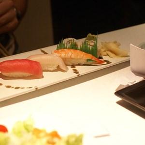 1 of 6: Teppan Edo - Sushi Sampler - Tuna, Yellow Tail, Shrimp Nigiri