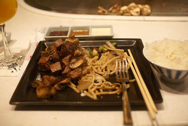 Teppan Edo - Filet Mignon - Steamed Rice, Udon Noodles, Peppers, Onion