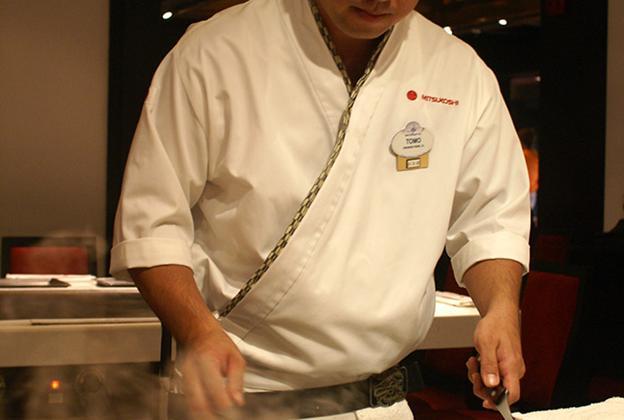 Teppan Edo chef performance