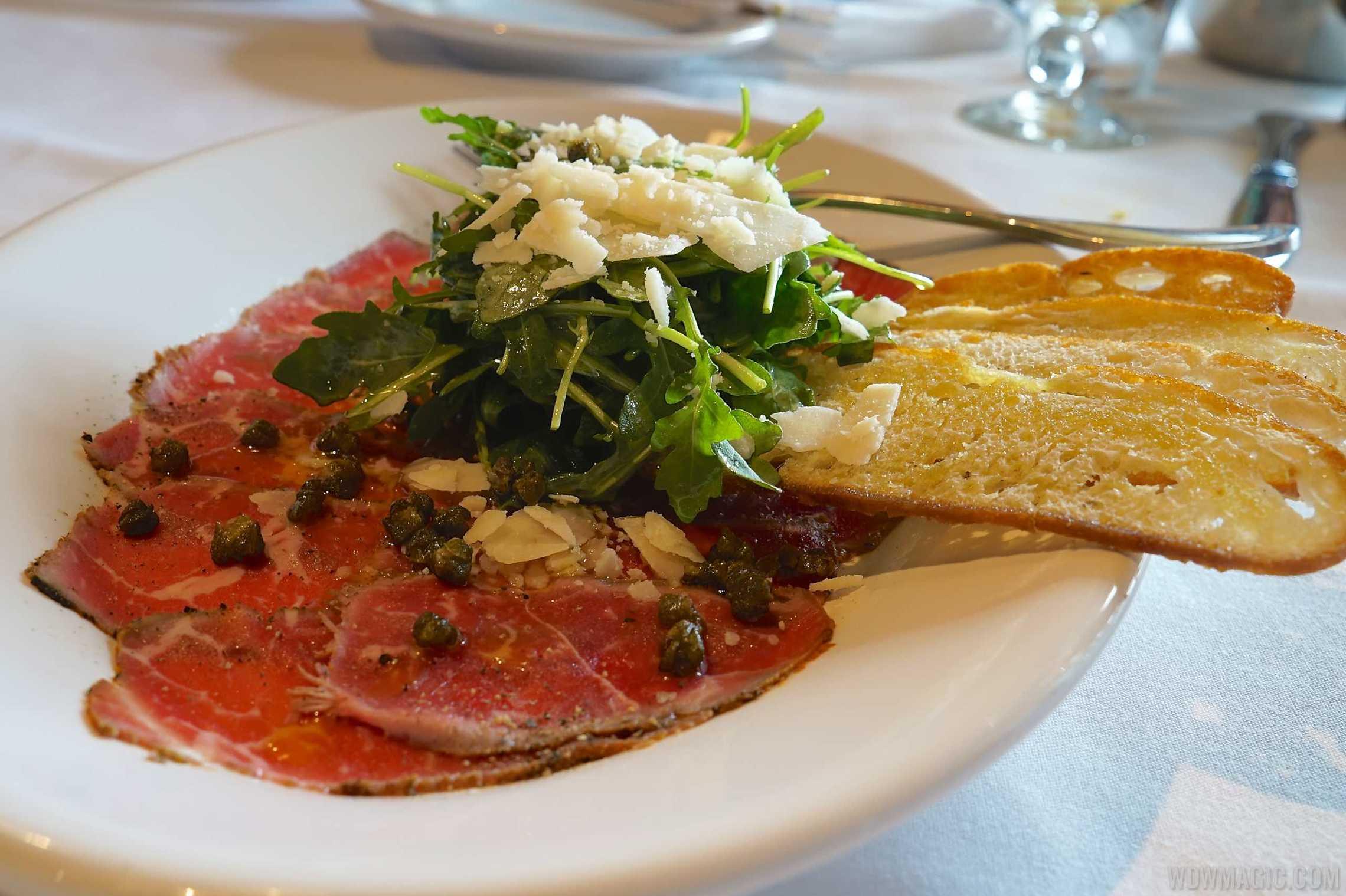 The BOATHOUSE Food - Seared NY Strip Carpaccio