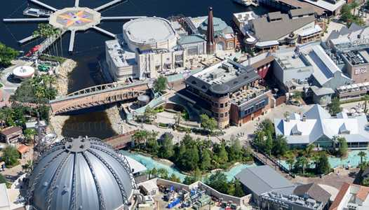 PHOTOS - Aerial views of The Edison nearing completion at Disney Springs