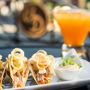 2 of 4: The Hollywood Brown Derby - The Hollywood Brown Derby Lounge - Duck tacos