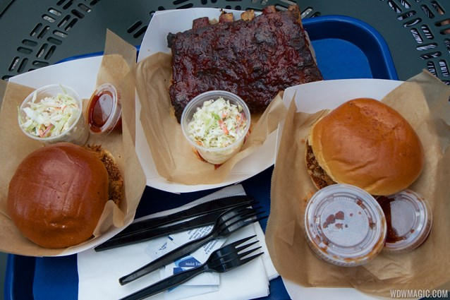 The Smokehouse - The Smokehouse - Pulled chicken, pulled pork and half rack of ribs