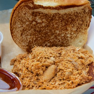 3 of 7: The Smokehouse - The Smokehouse - Pulled chicken sandwich
