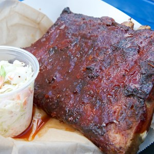 6 of 7: The Smokehouse - The Smokehouse - Half rack of ribs