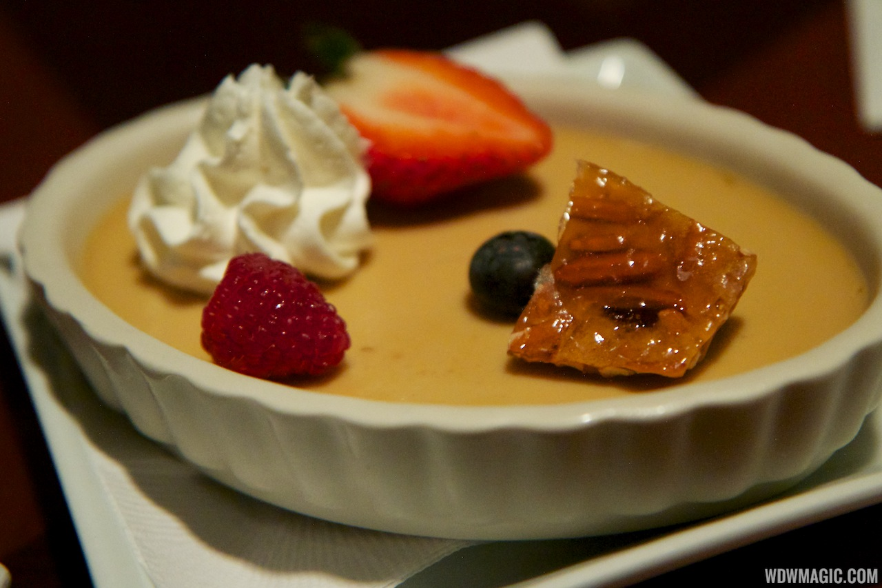... Club Bar and Grill food - Maple Pot de Crème with Almond Praline 5.49