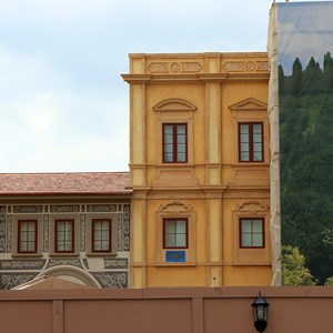 1 of 2: Via Napoli - Construction wall partially down