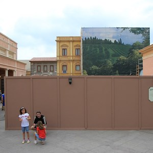 2 of 2: Via Napoli - Construction wall partially down