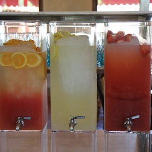 16 of 44: Via Napoli - Acqua Fresca coolers - strawberry, limonata, blood orange