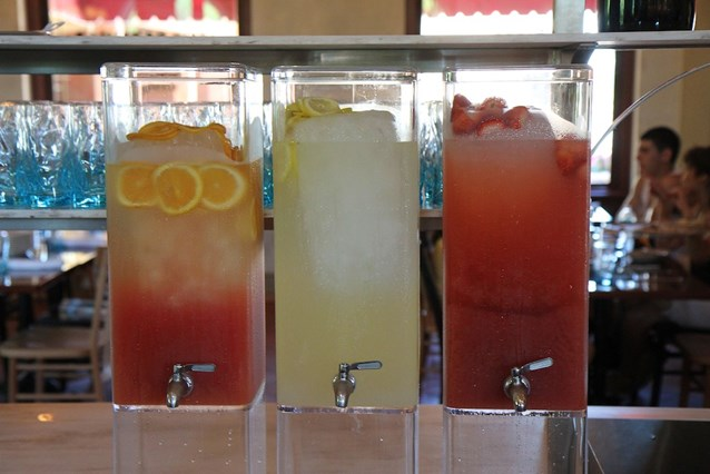 Via Napoli - Acqua Fresca coolers - strawberry, limonata, blood orange