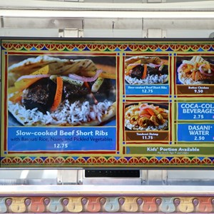 6 of 12: West Side Food Trucks at Exposition Park - Namaste Cafe food truck menu