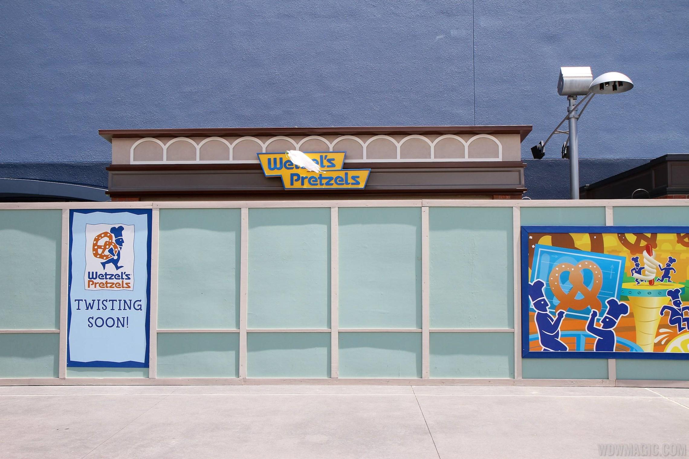 New Wetzel's Pretzels and Haagen Dazs kiosks under construction on the West Side