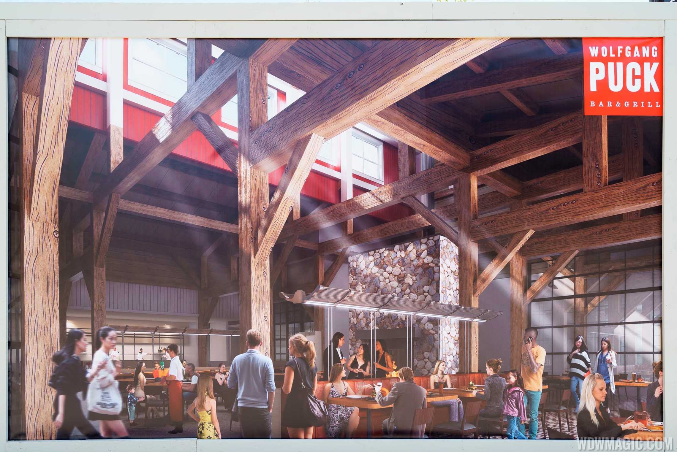 Wolfgang Puck Bar and Grill concept art - Interior