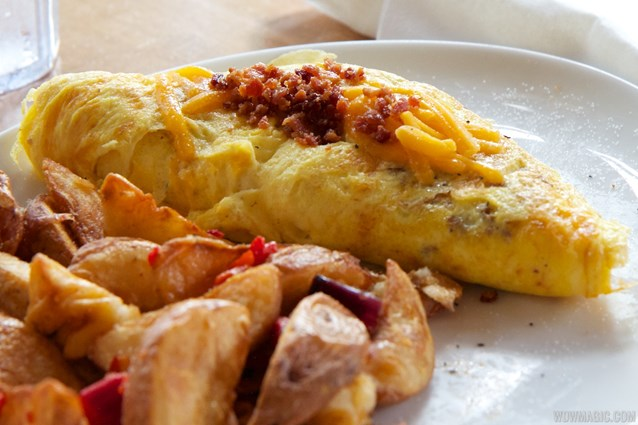 Wolfgang Puck Express - Marketplace - Wolfgang Puck Express Marketplace breakfast - Sausage, Bacon and Cheddar Omelet $13