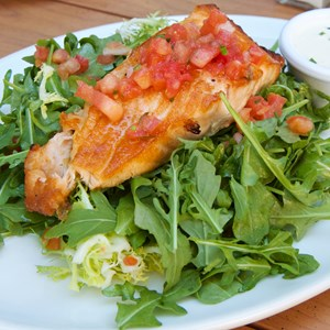 9 of 19: Wolfgang Puck Express - Marketplace - Wolfgang Puck Express Marketplace - Salmon