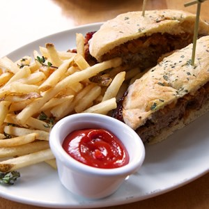 12 of 19: Wolfgang Puck Express - Marketplace - Wolfgang Puck Express Marketplace - Meatball sandwich
