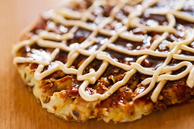 Katsura Grill - Okonomiyaki, a traditional Japanese pancake
