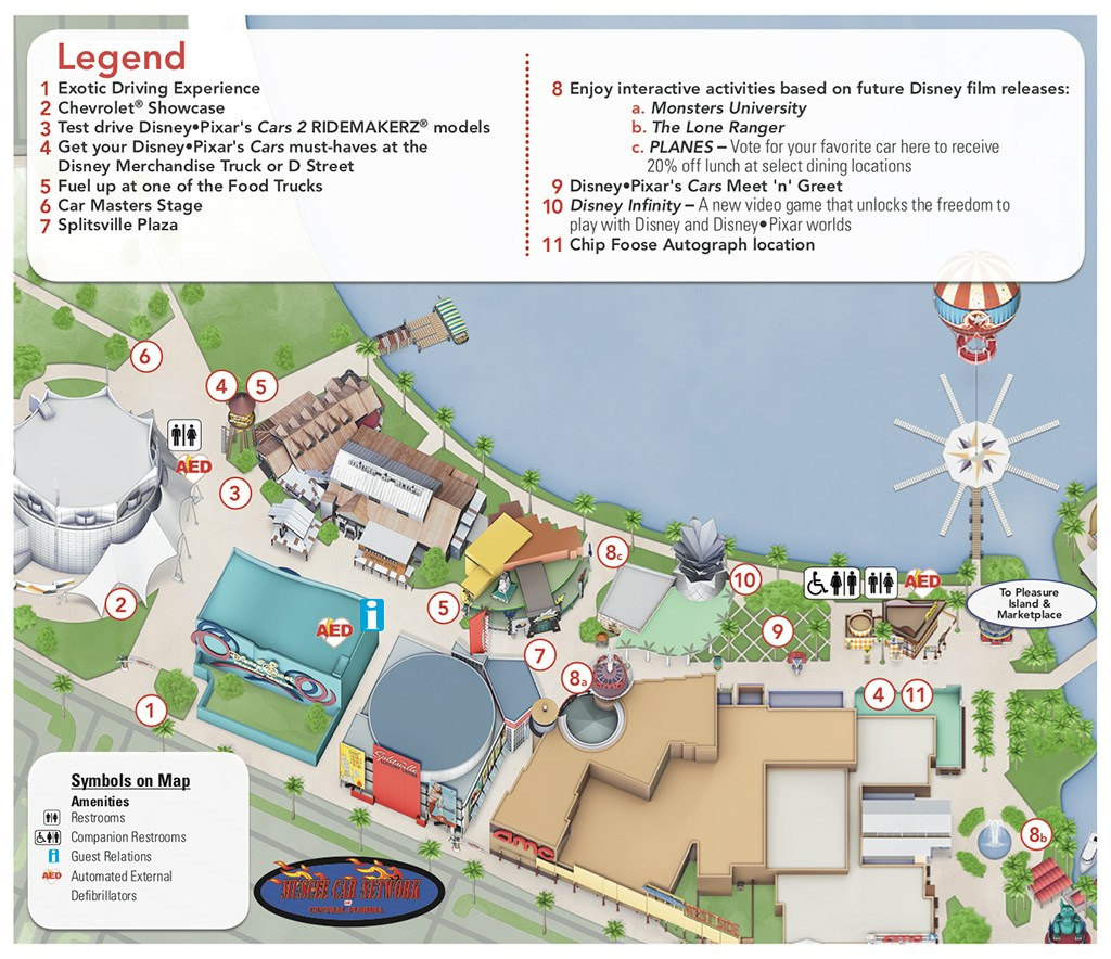 Car Masters Weekend 2013 Guide Map