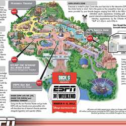 2011 ESPN The Weekend guide map and schedule