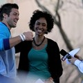 ESPN The Weekend - ESPN&#39;s Sage Steele, Linda Cohn with Tim Tebow