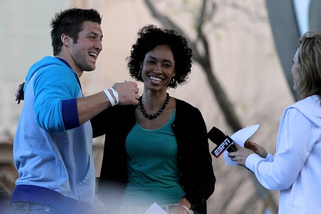 ESPN The Weekend - ESPN's Sage Steele, Linda Cohn with Tim Tebow