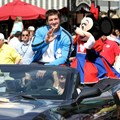 ESPN The Weekend - NFL Motorcade - Tim Tebow