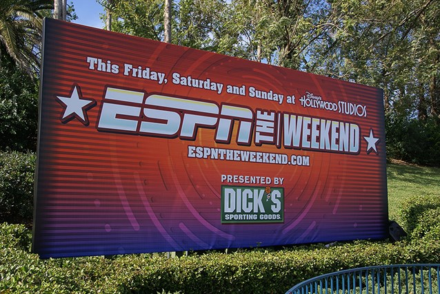 ESPN The Weekend - 2009 ESPN The Weekend entrance billboard