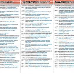 2010 ESPN The Weekend guide map and schedule