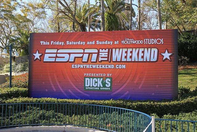 ESPN The Weekend - Main entrance billboard