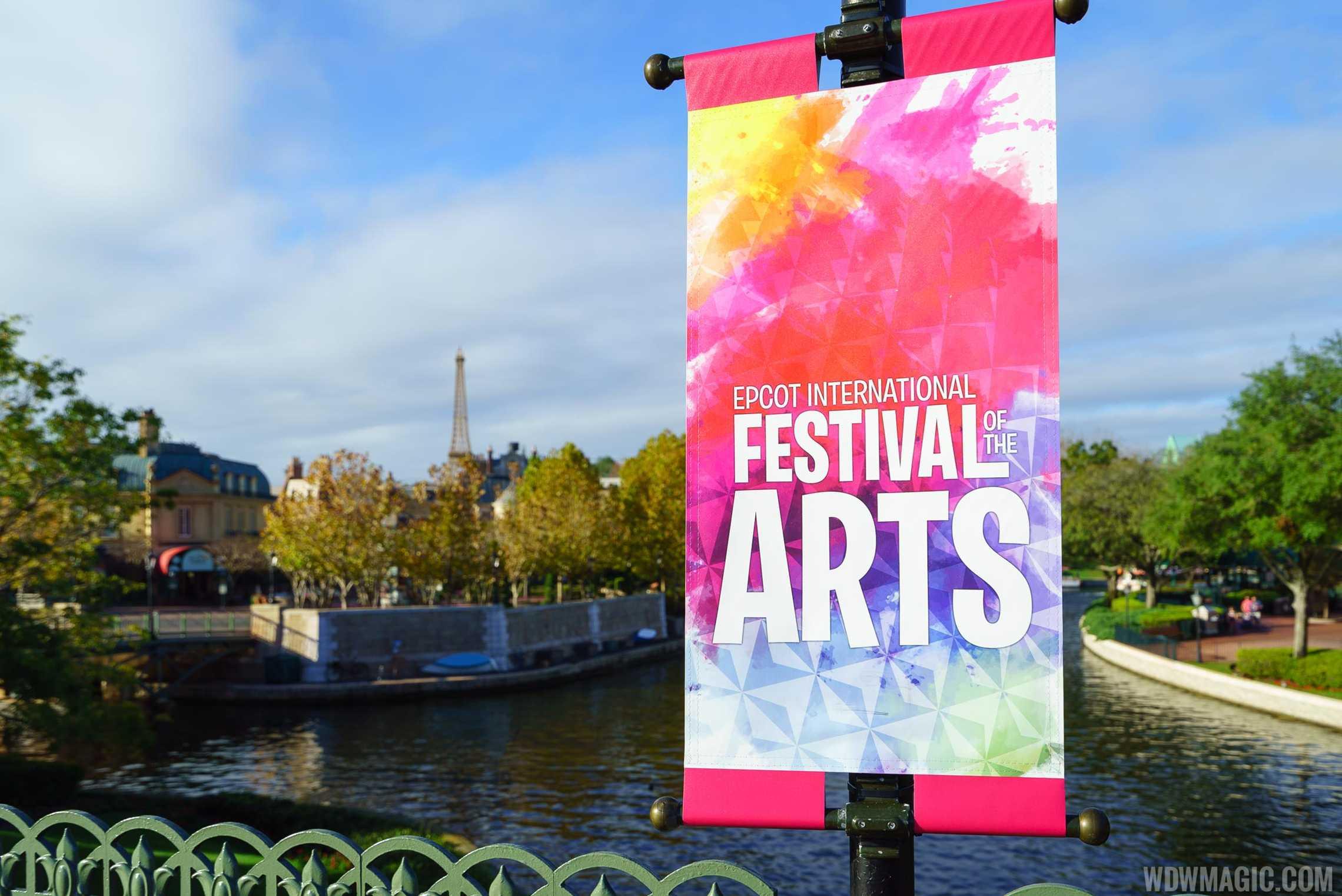 Epcot Festival of the Arts - World Showcase sign