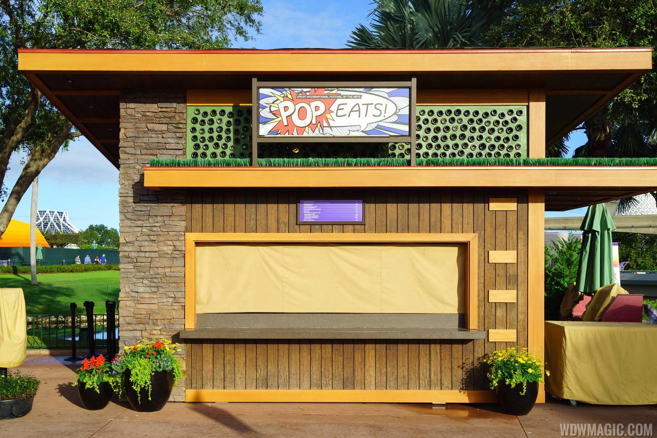 Epcot Festival of the Arts - Pop Eats! kiosk
