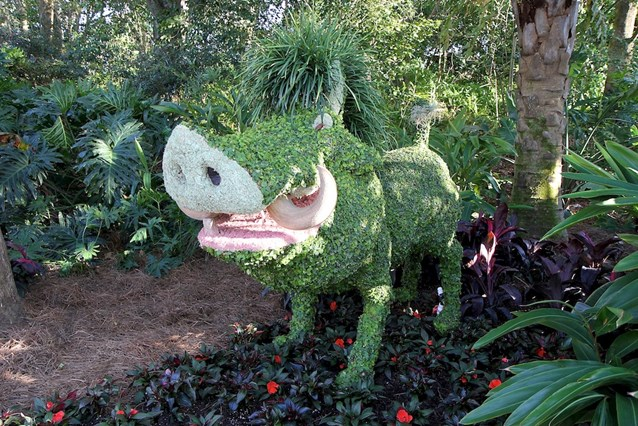 International Flower and Garden Festival - Pumba topiary near the Outpost