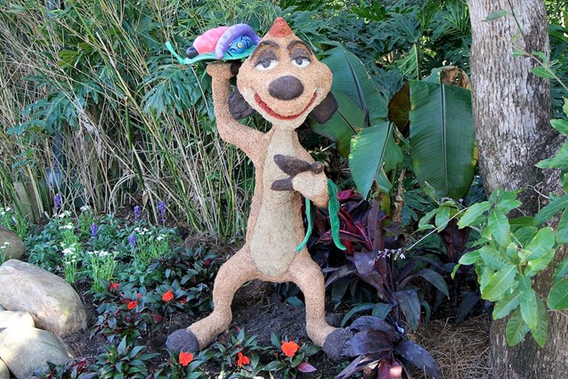 Epcot International Flower and Garden Festival - Timon topiary near the Outpost