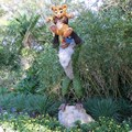 International Flower and Garden Festival - Simba and Rafiki topiary near the Outpost
