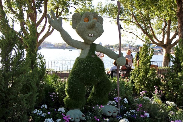 Epcot International Flower and Garden Festival - Troll topiary in Norway